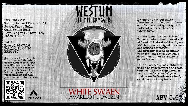 White Swaen (Amarillo Hefeweizen)